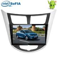 Штатная магнитола Hyundai Solaris Verna LeTrun 1595 Android 5.1 экран 9 дюймов