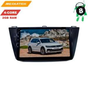Штатная магнитола для Volkswagen Tiguan с 17 года LeTrun 3034 KDKD Android 8.x 4G 10 дюймов 2+16 Gb