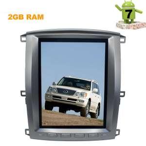 Штатная магнитола Toyota Land Cruiser 100 с 2002 года LeTrun 2834 ZF Android 7.x 12 дюймов Tesla