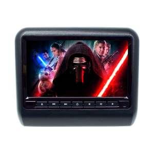 Навесной монитор на подголовник 9 дюймов LeTrun 2656 USB SD DVD черный