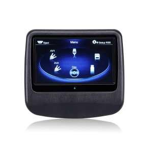 Навесной монитор на подголовник 9 дюймов LeTrun 908 DVD-SD-USB черный
