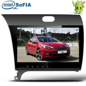 Штатная магнитола Kia Cerato-4, K3 c 2013 года LeTrun 1991 Intel Android 5.1 экран 9 дюймов
