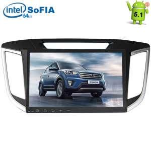 Штатная магнитола Hyundai Creta  LeTrun 1726 Intel Android 5.1 экран 10 дюймов