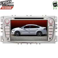 Штатная магнитола Ford Focus 2, Mondeo (овал) цвет серебро LeTrun 2524  Android 8 DSP 8 ядер