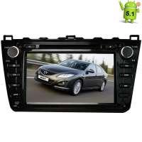 Штатная магнитола Mazda 6 2008-2012 LeTrun 1553 Android 5.1  черная