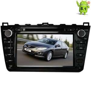 Штатная магнитола Mazda 6 2007-2012 LeTrun 1553 Android 5.1  черная