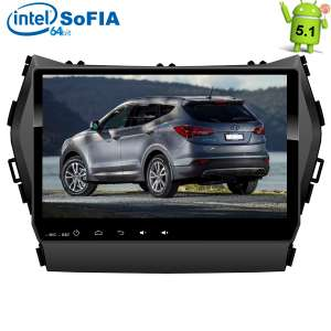Штатная магнитола Hyundai Santa FE с 2013 года IX45 LeTrun 1935 Intel Android 5.1.1 экран 9 дюймов
