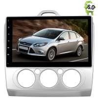 Штатная магнитола Ford Focus 2 (без климата) каншина LeTrun 1798 Android 6.0.1 экран 10,2 дюйма