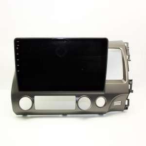 Штатная магнитола для Honda Civic 2007-2011 тёмная правый руль LeTrun 3402-4258 10 дюймов IN Android 10 3+32 Gb 8 ядер DSP ++
