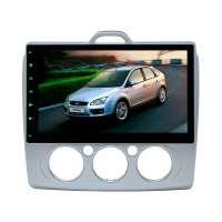 Штатная магнитола Ford Focus 2 (без климата, с кондиционером) LeTrun 1797 KSP Android 6.x Alwinner экран 10,2``