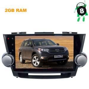 Штатная магнитола Toyota Highlander 2007-2013 LeTrun 2807 ZH Android 8.x экран 10 дюймов T3