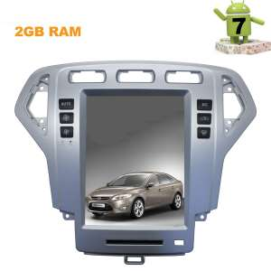 Штатная магнитола Ford Mondeo 2007-2011  LeTrun 2917 ZF Android 7.x экран 10 дюймов Tesla