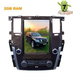 Штатная магнитола Nissan Patrol Infiniti QX56 QX80 LeTrun 2918 ZF Android 7 экран 12 дюймов Tesla