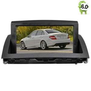Штатная магнитола Mercedes C-class W204 2007-2011 LeTrun 1766 Android 6.0.1 экран 8 дюймов