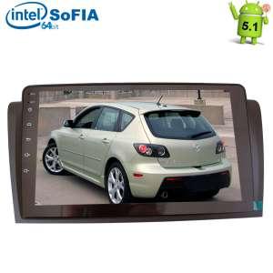 Штатная магнитола Mazda 3 до 2009 года LeTrun 1940 Android 5.1.1 экран 9 дюймов