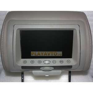 Подголовник с монитором 7 дюймов серый LeTrun 771 DVD-SD-USB