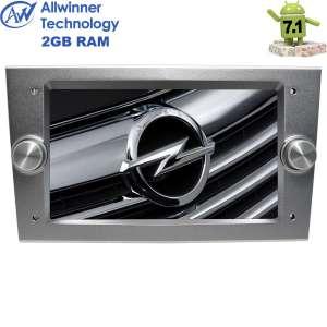 Штатная магнитола Opel Astra, Vectra, Zafira, Corsa LeTrun 2394 Android 7.1.1 2 Gb T3 цвет серебро