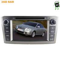 Штатная магнитола Toyota Avensis 2004-2009 серебро LeTrun 2542 Android 8