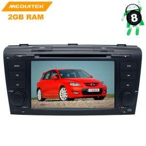 Штатная магнитола Mazda 3 с 2003 до 2008 года LeTrun 2727 Android 9.x MTK-L