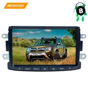 Штатная магнитола Renault Logan 14+, Duster, Terrano, Lada X-ray LeTrun 2896 Android 8.x 2+16 MTK 4G