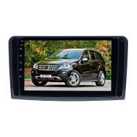 Штатная магнитола для Mercedes-benz ML, GL 2005-2012 (Глянец ) LeTrun 3158-3915 9 дюймов IN (1DIN) Android 10.x  6+128 Gb 8 ядер DSP ++