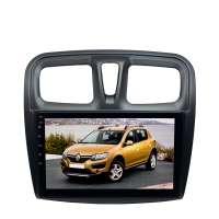 Штатная магнитола для Renault Logan, Sandero 2 поколение с 2014 года LeTrun 4202-4560 10 дюймов XY Android 10 MTK-L 2+16 Gb IPS DSP