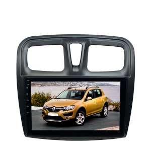Штатная магнитола для Renault Logan, Sandero 2 поколение с 2014 года LeTrun 4202-4463 10 дюймов VT Android 10 MTK-L 2+16 Gb ASP ++