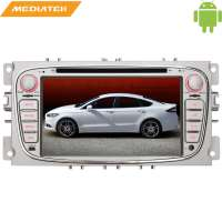 Штатная магнитола Ford Focus 2 Mondeo (овал)  цвет серебро LeTrun 1412 Android 6.0.1  MTK