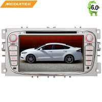 Штатная магнитола Ford Focus 2, Mondeo 4 (овал)  цвет серебро LeTrun 1412 KD Android 8.x MTK 4G
