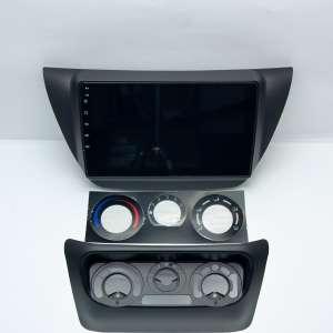Штатная магнитола для Mitsubishi Lancer 2002-2010 9 поколение с нижней частью (черный) LeTrun 4594-4166 9 дюймов IN Android 10.x 3+32 Gb 8 ядер DSP