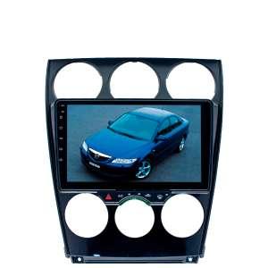 Штатная магнитола для Mazda 6, Atenza c 2002 до 2007 г. LeTrun 2759-3066 9 дюймов KD Android 9.1 MTK-L 2+32 DSP