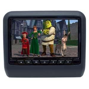 Навесной монитор на подголовник 9 дюймов LeTrun 2872 USB SD DVD черный/серый