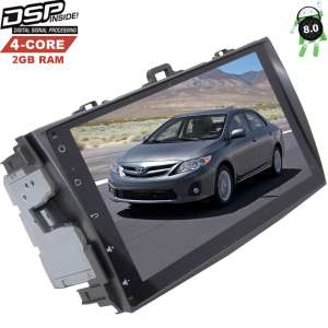 Штатная магнитола Toyota Corolla 2007-2012 Android 8.x LeTrun 2449 GS DSP