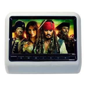 Навесной монитор на подголовник 9 дюймов LeTrun 2657 USB SD DVD серый