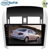 Штатная магнитола Toyota Corolla 2007-2012 LeTrun 2121  Intel Android 6.0.1 экран 10,2 дюйма