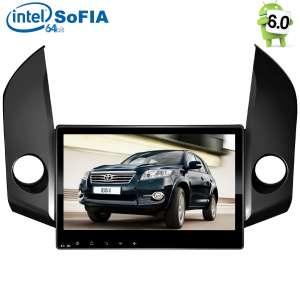 Штатная магнитола Toyota RAV4 до 2013 года LeTrun 2122 Intel Android 6.0.1 экран 10 дюймов