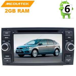 Штатная магнитола Ford Focus 2, Fusion, Kuga, C-MAX цвет черный LeTrun 2606 KD Android 8.x MTK 4G
