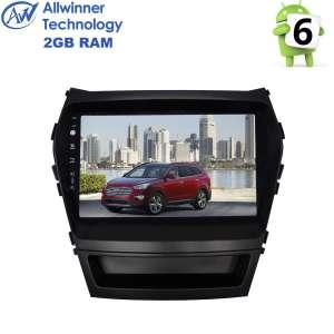 Штатная магнитола Hyundai Santa Fe с 2013 года, IX45 LeTrun 1678 Android 6.x Alwinner экран 9 дюймов