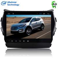Штатная магнитола Hyundai Santa FE с 2013 года, IX45 LeTrun 1678 Android 6.0.1 Alwinner экран 9``