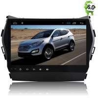 Штатная магнитола Hyundai Santa FE с 2013 года IX45 LeTrun 1678 Android 6.0.1 экран 9 дюймов