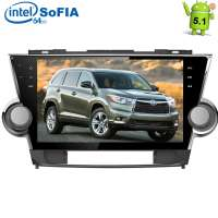 Штатная магнитола Toyota Highlander LeTrun 1600  Intel Android 5.1 экран 10,2 дюйма