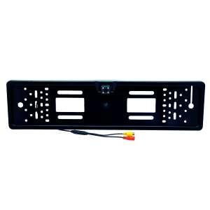 Камера заднего вида черная 170 градусов с рамкой под номер, ночная ИК подсветка LeTrun 2428