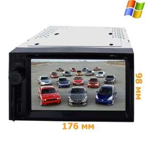 2 DIN Универсальная магнитола LeTrun 2249  GPS экран 800*480