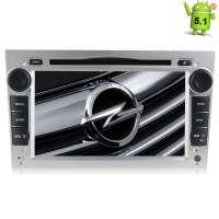 Штатная магнитола Opel Astra, Vectra, Zafira, Corsa LeTrun 1418 Android 5.1  цвет серебро