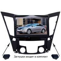 Штатная магнитола для Hyundai Sonata 10-13 г LeTrun 2298-3231 9 дюймов YF Android 9.x 4+64 Gb Intel 8 ядер 4G ++