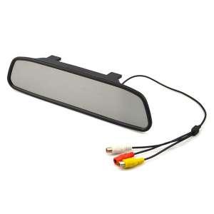 Зеркало заднего вида с монитором LeTrun LT-439MP мультимедиа 4,3 дюйма