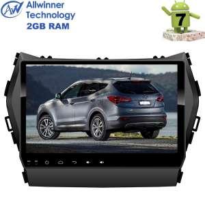 Штатная магнитола Hyundai Santa Fe с 2013 года, IX45 LeTrun 2827 Android 7.x 9 дюймов Alwinner T3