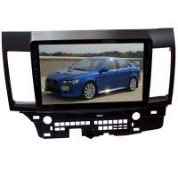 Штатная магнитола для Mitsubishi Lancer до 2014 г  LeTrun 1932-2943 10 дюймов GS Android 9.x 4+64 Gb 8 ядер 4G DSP