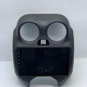 Штатная магнитола для Nissan March с 2010 года LeTrun 4589-4355 9 дюймов (крутилки) KLD с 1DIN корпусом Android 10.x PX6 4+64 DSP