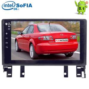 Штатная магнитола Mazda 6, Atenza 2002-2007 Android 5.1 экран 9 дюймов LeTrun 1654